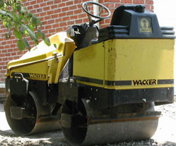 Bebb Asphalt - Yellow Power & Vibrating Roller